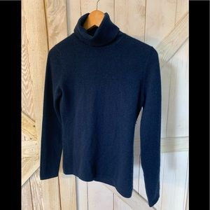 100 % 2- ply Cashmere turtle neck sweater